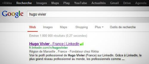 Sortir dans les premier résultats Google grâce à votre profil Linkedin.