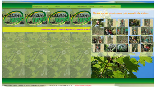 Indian Forest sud Site web