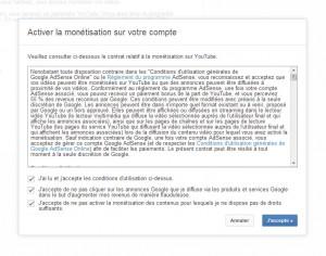 Devenir partenaire YouTube (cliquez pour agrandir)