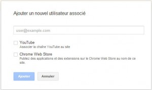 Lier son site web à son compte YouTube