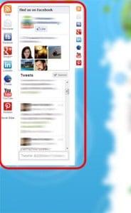 Encart réseaux sociaux