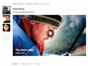Affichage des vidéos (vimeo) sur le Facebook 2013