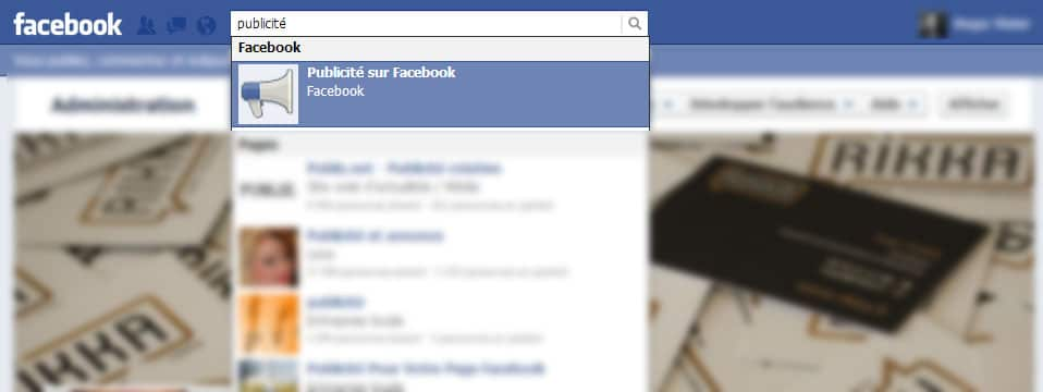 La page complète pour créer une annonce payante sur Facebook